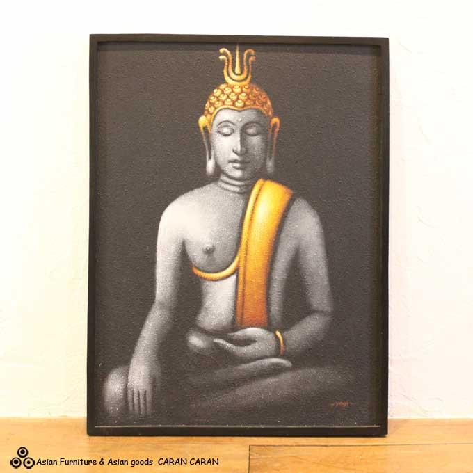 ブッダの絵 バリアート 絵画 W73×H93 バリ風 インテリア