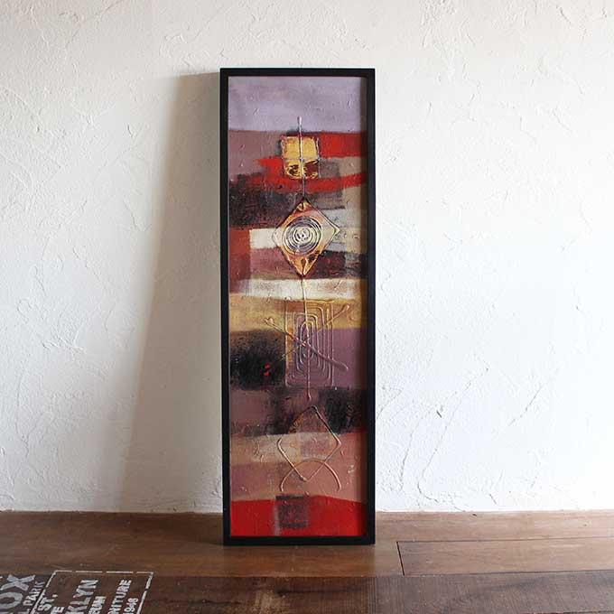 バリアート 絵画 抽象画 モダン W33×H103 バリ風 インテリア