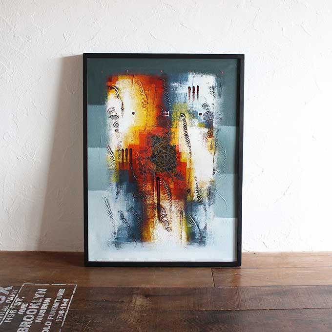 バリアート 絵画 抽象画 モダン W63×H83 バリ風 インテリア