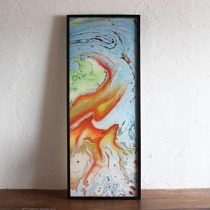 バリアート 絵画 抽象画 モダン W48×H123 バリ風 インテリア