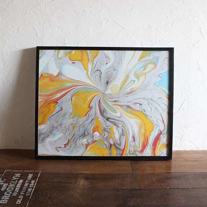 バリアート 絵画 抽象画 モダン W83×H63 バリ風 インテリア