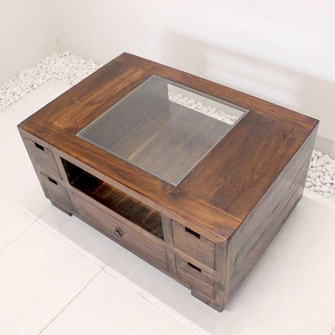 リビングテーブル センターテーブル H45×W90 バリ家具 アジアン家具
