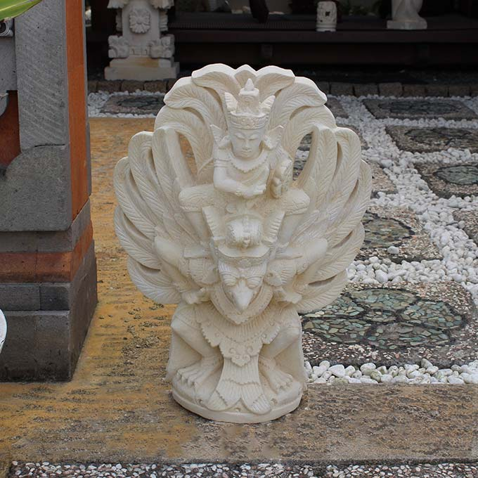 ガルーダの石像 H50cm 鳥の神様 オブジェ
