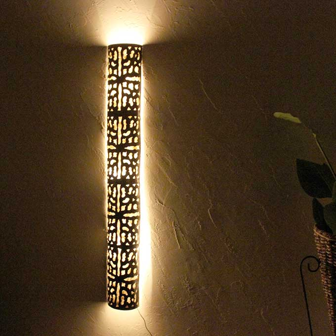 アイアン アジアン ライト 照明 壁掛け ウォールライト H150cm