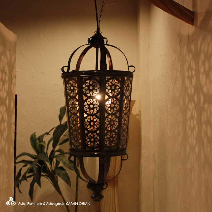 アイアンの吊り下げランプ 天井ライト 照明 H85cm