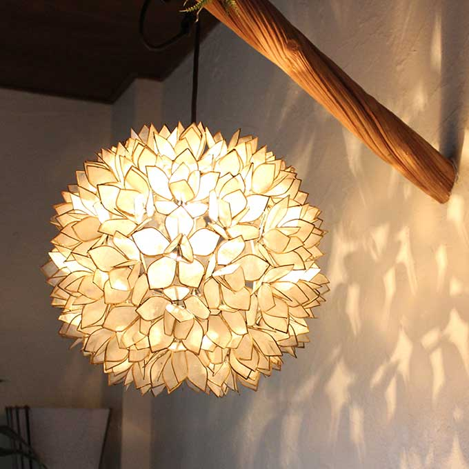 Caran2 rakuten global market shell flower pendant lights h38cm mozeypictures Choice Image
