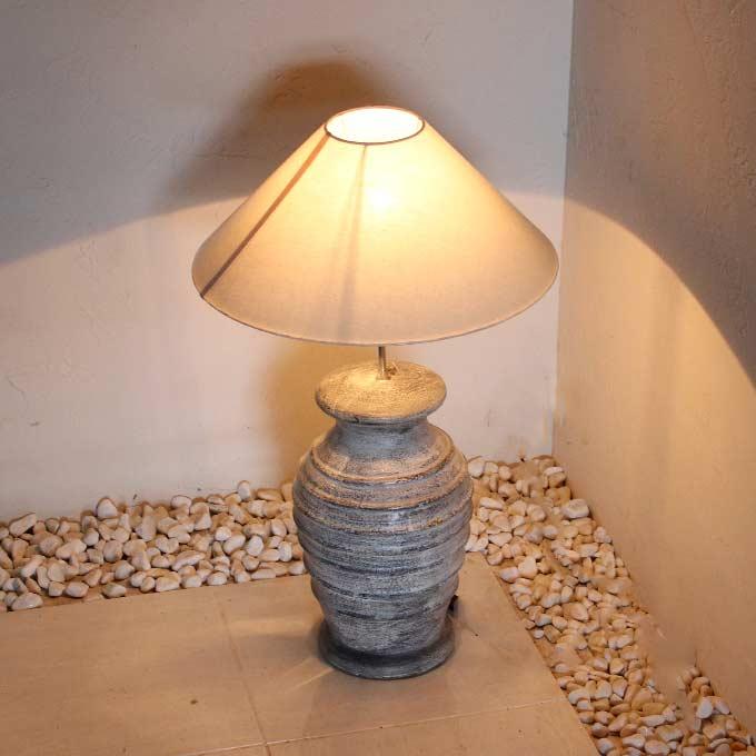 陶器のテーブルランプ アジアン ライト 照明 フロアスタンドライト H61cm