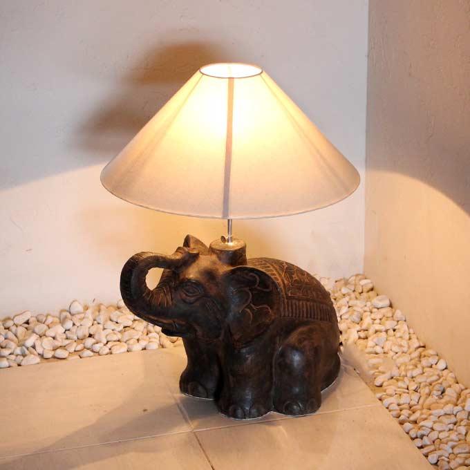 象のテーブルランプ アジアン ライト 照明 フロアスタンドライト H61cm