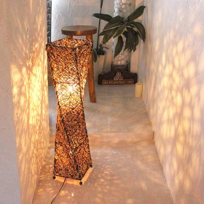 バリ風 ラタン アジアン ライト 照明 フロアスタンドライト H100cm