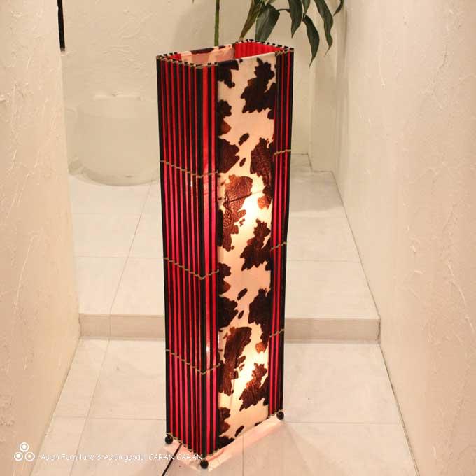 牛柄 アジアン ライト 照明 フロアスタンドライト H100cm