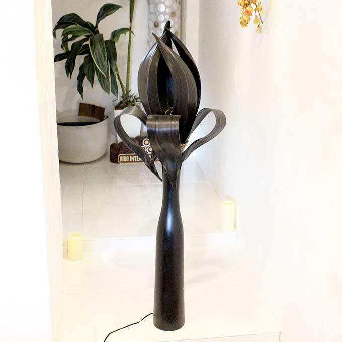 パームリーフ アジアンリゾート風 ライト 照明 フロアスタンドライト H123cm
