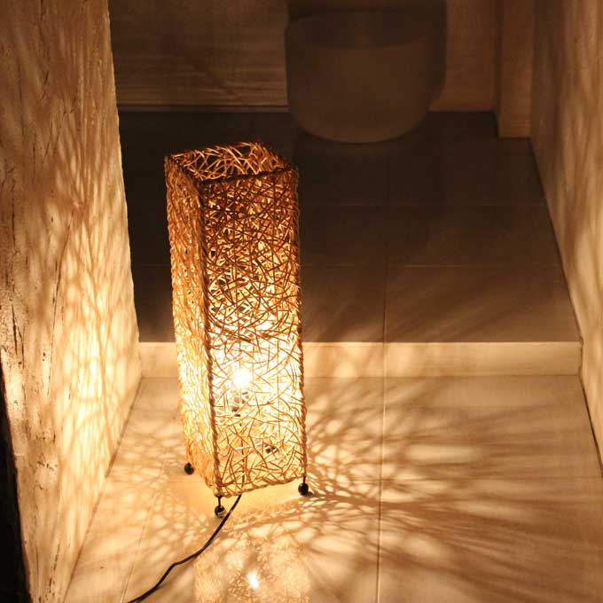 Lighting Concealed Lighting Light Stand Floor Light Floor Lamp Rattan  Natural H60cm Asian Interior Lights Delax