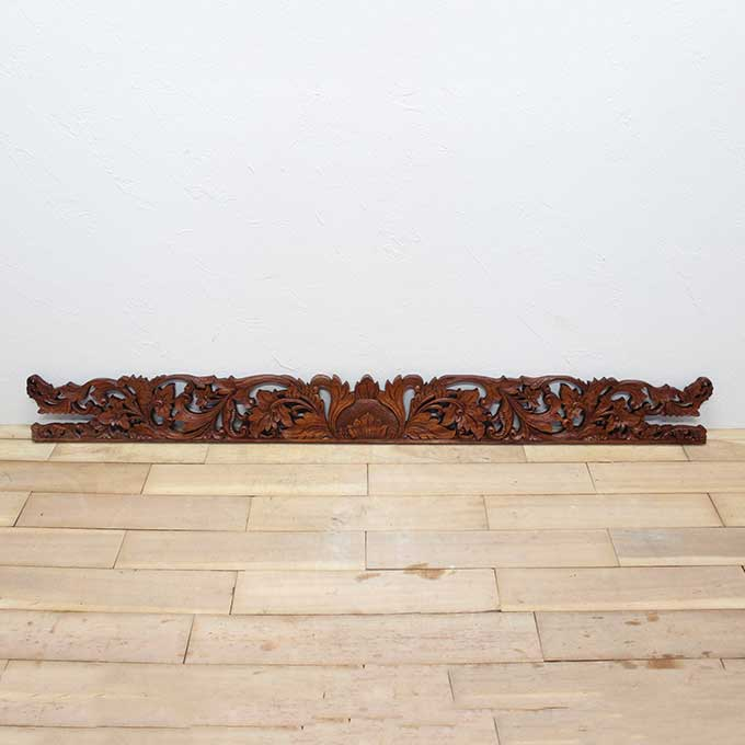 レリーフ アジアン 彫刻 20×200cm バリ風 壁飾り インテリア