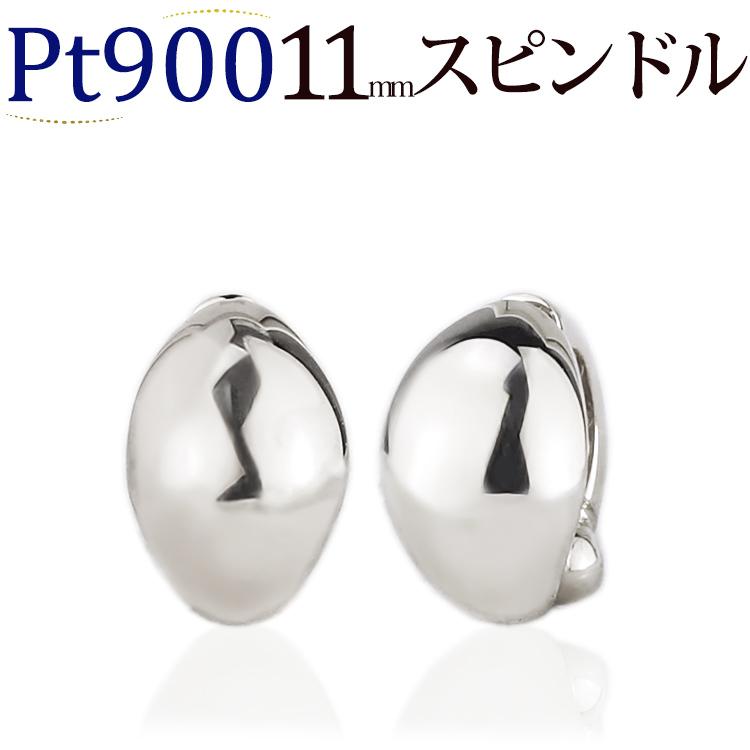 プラチナ/Ptフープイヤリング ピアリング(11mmスピンドル)(ej0025pt)