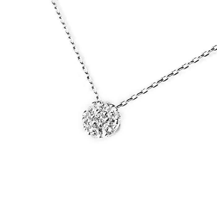 プラチナ ダイヤモンドネックレス(7Stone ダイヤ0.25ctUP)(小豆チェーン付)(pd2145)