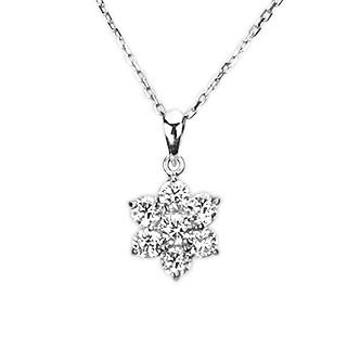 プラチナダイヤモンドペンダントトップFlower(ダイヤ0.55ct)(Pt900製ペンダントヘッド)(pd2215):ジュエリー専門店Carat