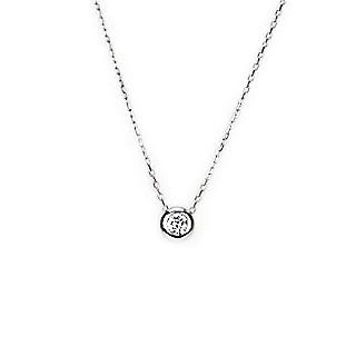 プラチナ ダイヤモンド0.15ctネックレス(伏せ込み)(小豆チェーン付)(pd2308)