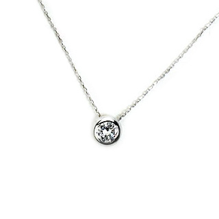 プラチナ ダイヤモンド0.5ctUPネックレス(伏せ込み)(小豆チェーン付)(pd2472)
