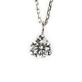 0.320ct Gカラー SI1 EXCELLENT プラチナダイヤモンドネックレス【中央宝石研究所ソーティング付き】