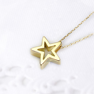 K18スター 星 ペンダントトップ Shining star pzs12k 18金 SALE開催中 ゴールド製ペンダントヘッド 18k 2020