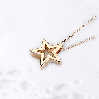 K18PG スター 星 ペンダントトップ(Shining star)(18金 18k ピンクゴールド製ペンダントヘッド)(pzs12pg)