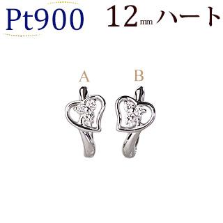 プラチナ中折れ式ダイヤフープピアス(0.10ct)(12mm)(sb0082pt)