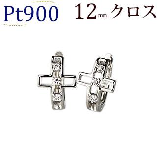 プラチナ中折れ式ダイヤフープピアス(12mm)(sb0083Pt)