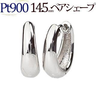 プラチナ中折れ式フープピアス(14.5mmペアシェープ)(ティアドロップ しずく つゆ 雫 滴 Pt900製)(sap145pt)