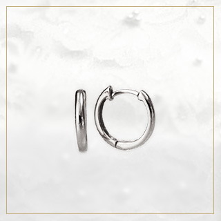 Platinum pre-bent hoop (10 mm round, Japan made) (sar10pt)