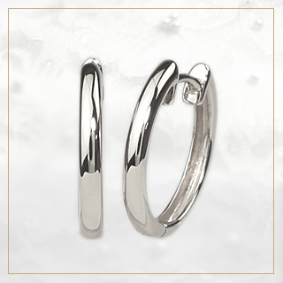 預彎白金耳環 (-13.5 毫米圓 Pt900) (sar135pt)