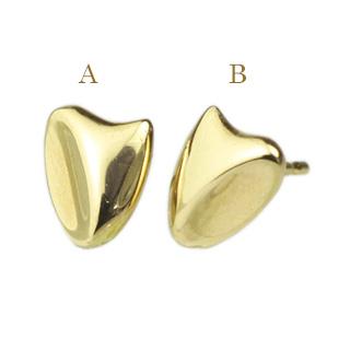K18ディオネハートピアス(軸太0.9mmX長さ1cmポスト)(18k、18金、ゴールド製)(szh8k)