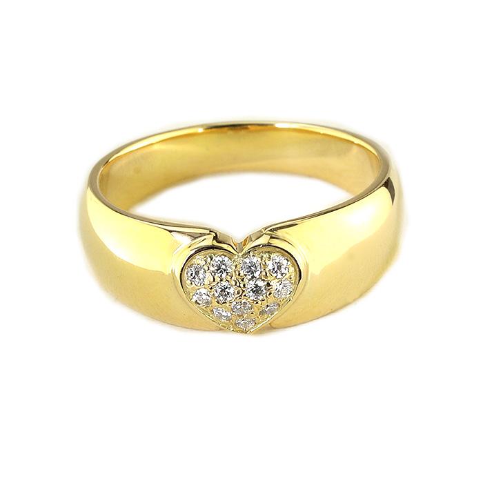 【ご予約納期5~7週間程】K18ダイヤモンドパヴェハートリング(rd0006k)