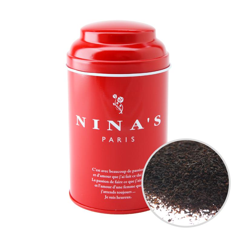 フランス生まれの紅茶 二ナス リーフティー ニナス 高品質新品 正規品 カトル リーフ フリュイ ルージュ 100g