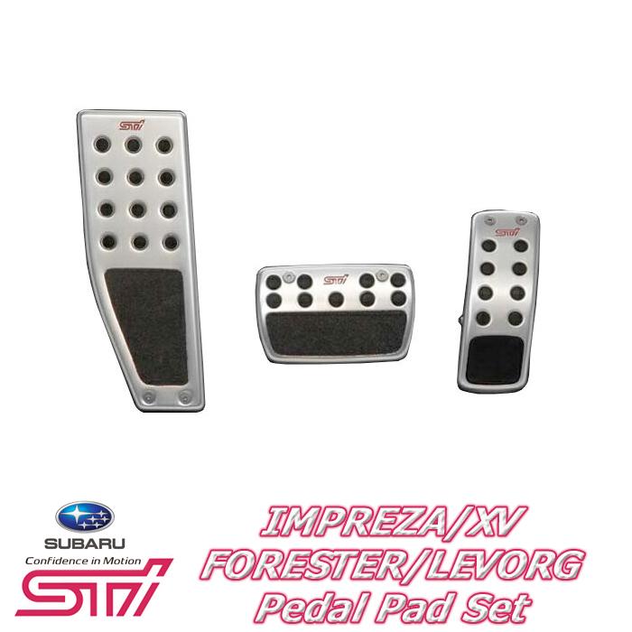 【STI スバル 正規】STI ペダルパッドセット CVT SG317FG000