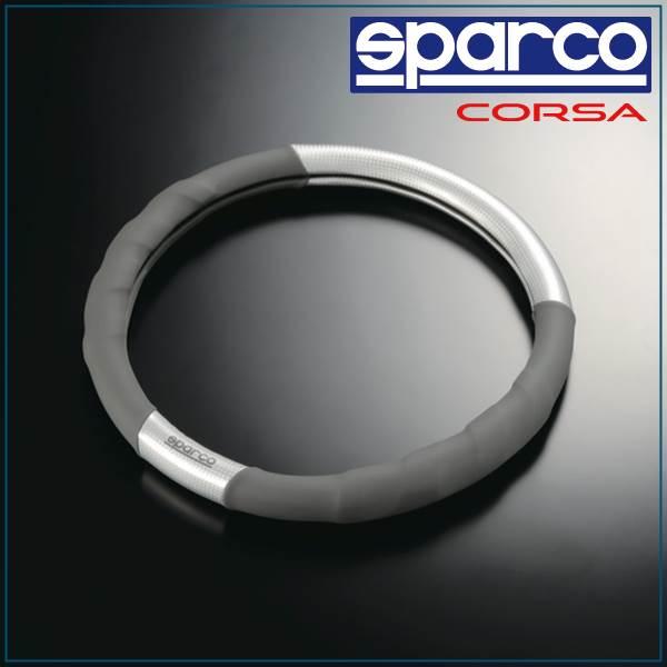 Sparco, sparco/SPC & gray steering wheel cover / carbon ver2 SPC1101