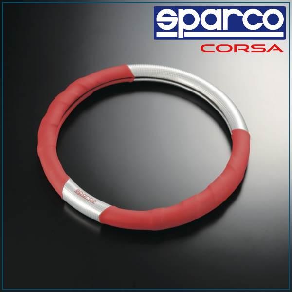 スパルコ, sparco/SPC, steering wheel cover red / carbon ver2 SPC1102