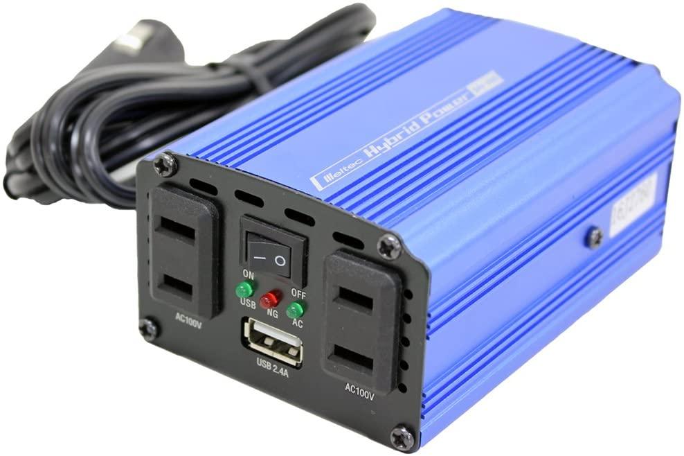 USB テレビで話題 コンセント タップ 車 12V コンセント2口 静音タイプ 2.4A 正規認証品 新規格 大自工業 SIV150 120W USB1口