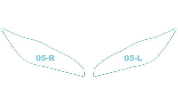 ヘッドライトプロテクションフィルム トヨタ WISH 【ZGE2##型】 年式 H24.4-H29.10 用【車用品・バイク用品 カー用品 ライト・ランプ ヘッドライト】