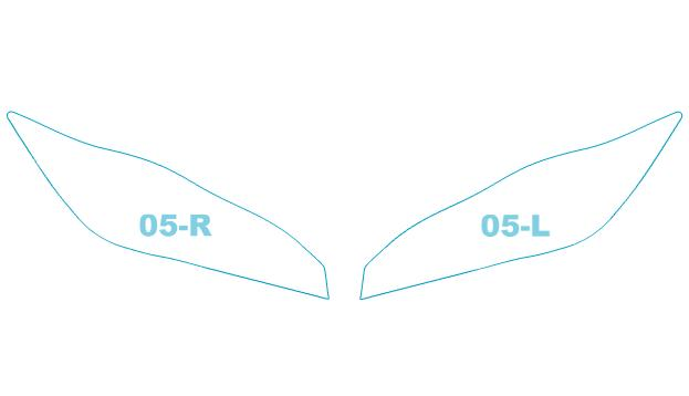 ヘッドライトプロテクションフィルム トヨタ WISH 【ZGE2##型】 年式 H21.4-H24.3 用【車用品・バイク用品 カー用品 ライト・ランプ ヘッドライト】