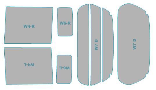 カーフィルム カット済み ウインコス 断熱スモーク スズキ スペーシア 【MK42S型】 年式 H27.5-H29.11 車検対応 業務用 スモークフィルム ウインドウ フィルム