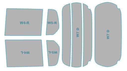 カーフィルム カット済み ウインコス 断熱スモーク スズキ ワゴンR 【MH34S型】 年式 H24.9-H26.8 車検対応 業務用 スモークフィルム ウインドウ フィルム