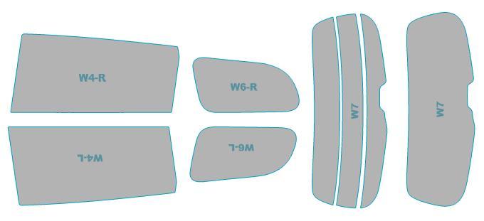 カーフィルム カット済み シルフィード 断熱スモーク トヨタ WISH 【ZGE2##型】 年式 H24.4-H29.10 車検対応 業務用 スモークフィルム ウインドウ フィルム
