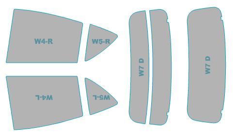 カーフィルム カット済み シルフィード 断熱スモーク トヨタ アクア 年式 H30.4- 車検対応 業務用 スモークフィルム ウインドウ フィルム
