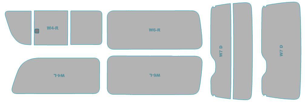 カーフィルム カット済み ウインコス 断熱スモーク トヨタ ハイエース 4ドア 年式 H22.7-H25.11 車検対応 業務用 スモークフィルム ウインドウ フィルム