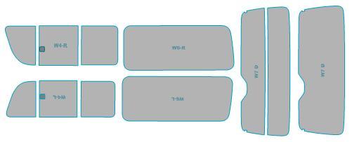 スモークフィルム 年式 トヨタ ウインドウ 車検対応 ハイエース シルフィード H22.7-H25.11 断熱スモーク ワイドボディ フィルム カット済み 4ドア カーフィルム 業務用
