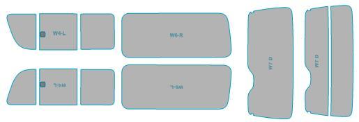 カーフィルム カット済み ルミクールSD UVカット 99%カット トヨタ ハイエース 5ドア スモークフィルム フィルム 国内送料無料 車検対応 H22.7-H25.11 業務用 ウインドウ 数量は多 年式