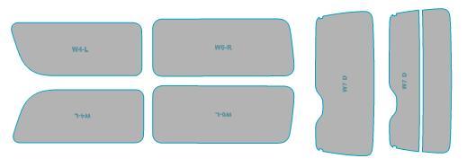 カーフィルム カット済み ルミクールSD UVカット 99%カット 爆売り トヨタ ハイエース 5ドア ウインドウ 車検対応 年式 日本未発売 フィルム スモークフィルム 業務用 H22.7-H25.11