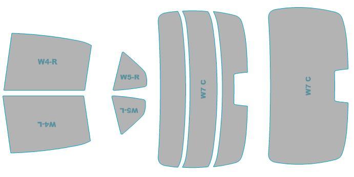 トヨタ 車検対応 フィルム 年式 カット済み H29.7- カムリ 業務用 ウインドウ 【AXVH70型】 スモークフィルム ハイブリッド カーフィルム 断熱スモーク シルフィード