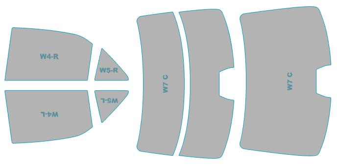 カーフィルム カット済み シルフィード 断熱スモーク トヨタ クラウン ロイヤル 【GRS21#型】 年式 H24.12-H27.9 車検対応 業務用 スモークフィルム ウインドウ フィルム