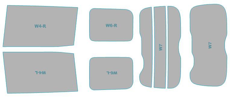 カーフィルム カット済み シルフィード 断熱スモーク トヨタ ノア 【ZRR80G型/ZRR85G型】 年式 H29.7- 車検対応 業務用 スモークフィルム ウインドウ フィルム